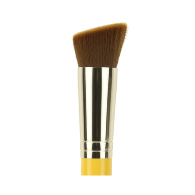 BDellium Tools Studio Line 956 Slanted Precision Kabuki Brush Yellow Head