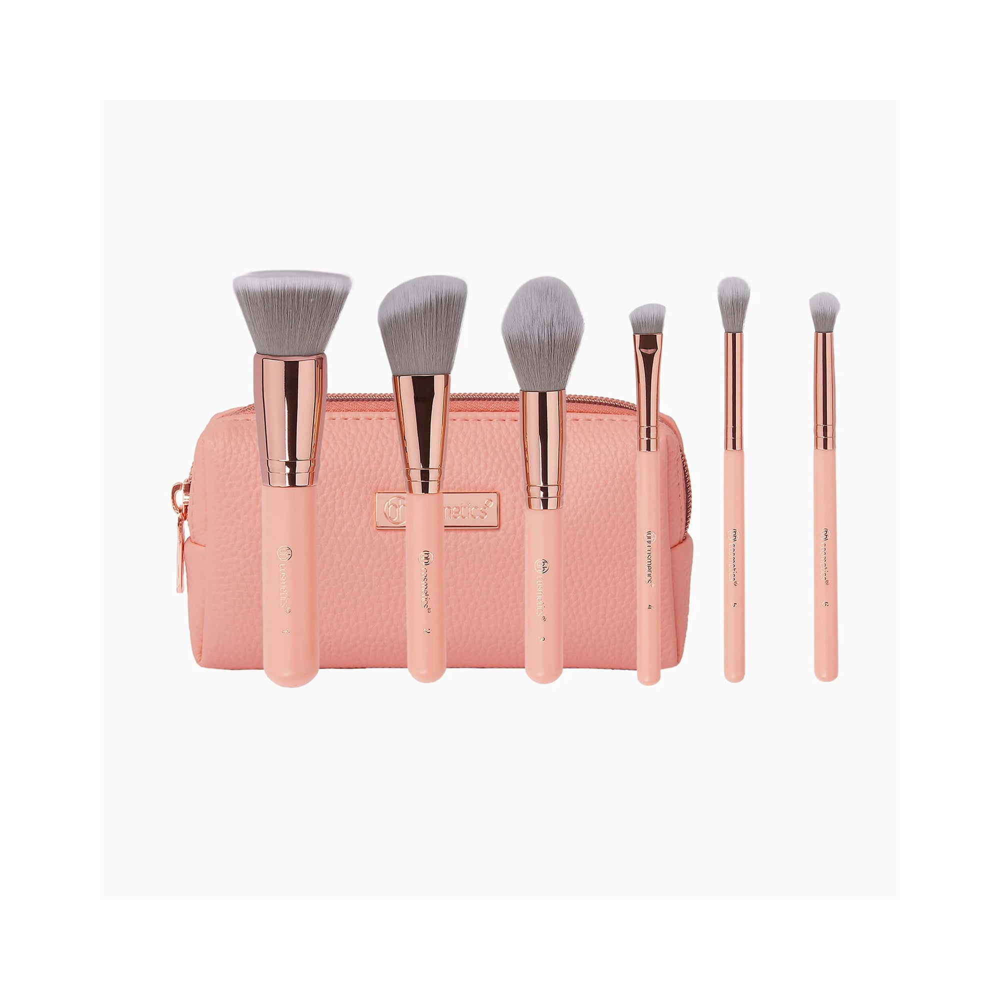 BH Cosmetics Petite Chic 6 Piece Mini Brush Set with Bag