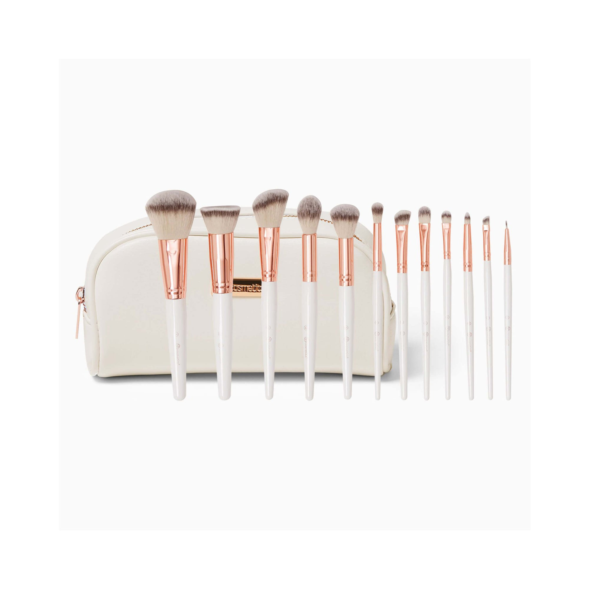 BH Cosmetics Rosé Romance 12-Piece Brush Set with Bag
