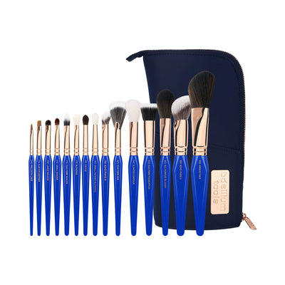 Bdellium Tools Golden Triangle Phase III Complete 15pc Brush Set With Pouch