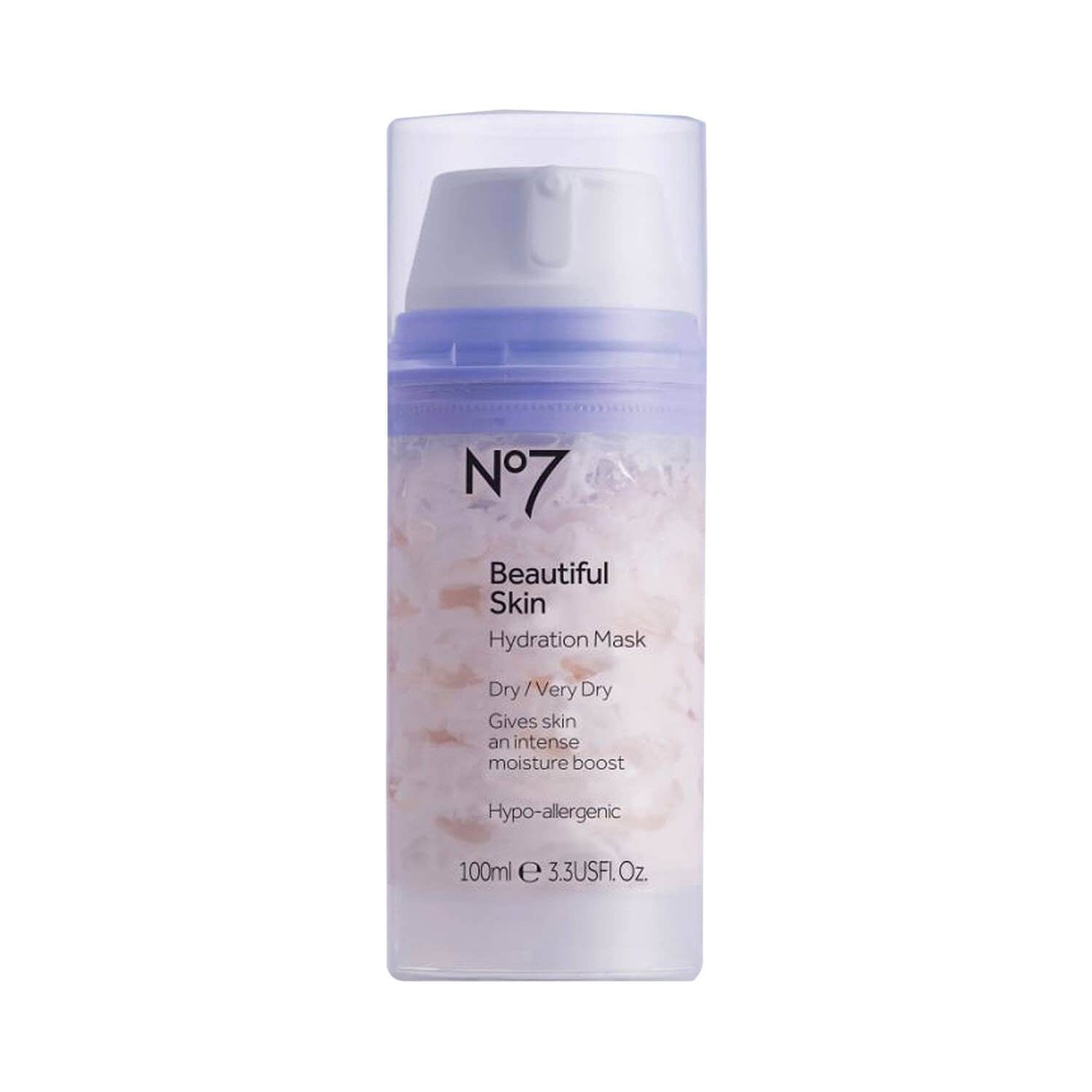 Boots No7 Beautiful Skin Hydration Mask for Dry Very Dry Skin 100ml