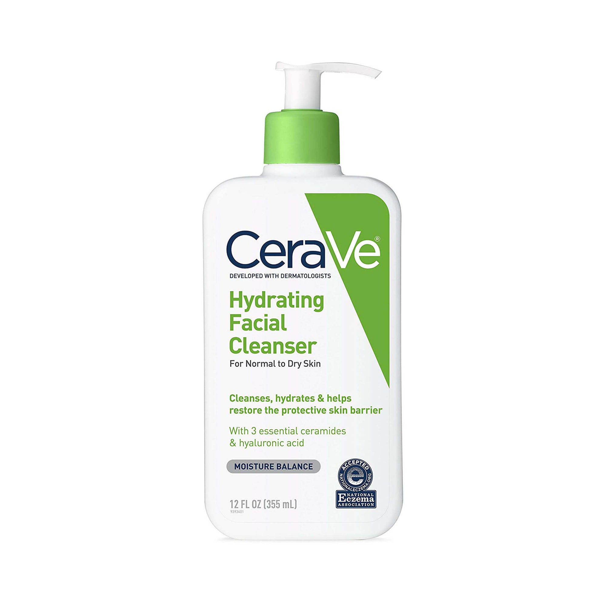 CeraVe Hydrating Facial Cleanser for Daily Face Washing 355ml