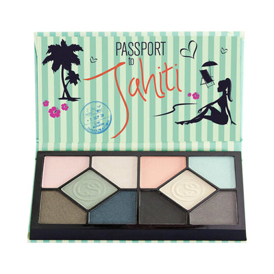Coastal Scents Passport Eyeshadow Palette Tahiti