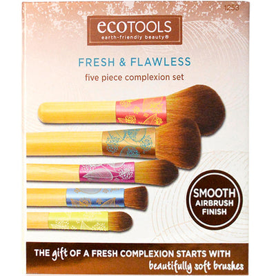EcoTools Fresh Flawless Complexion Brush Set 5 Piece Brush Set