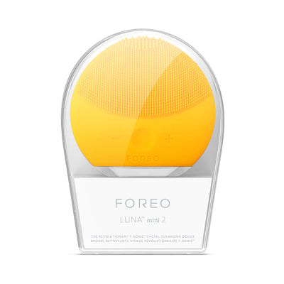 FOREO LUNA mini 2 Facial Cleansing Brush Sunflower Yellow Front