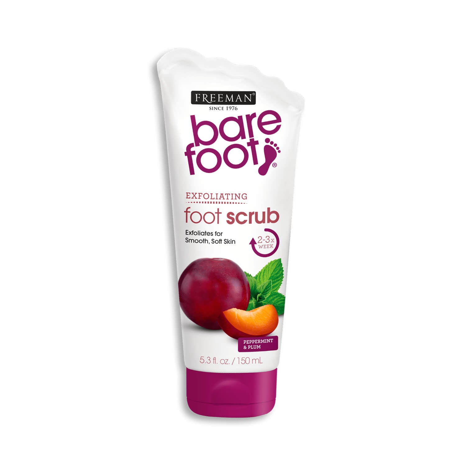 Freeman Beauty Bare Foot EXFOLIATING Foot Scrub Peppermint Plum