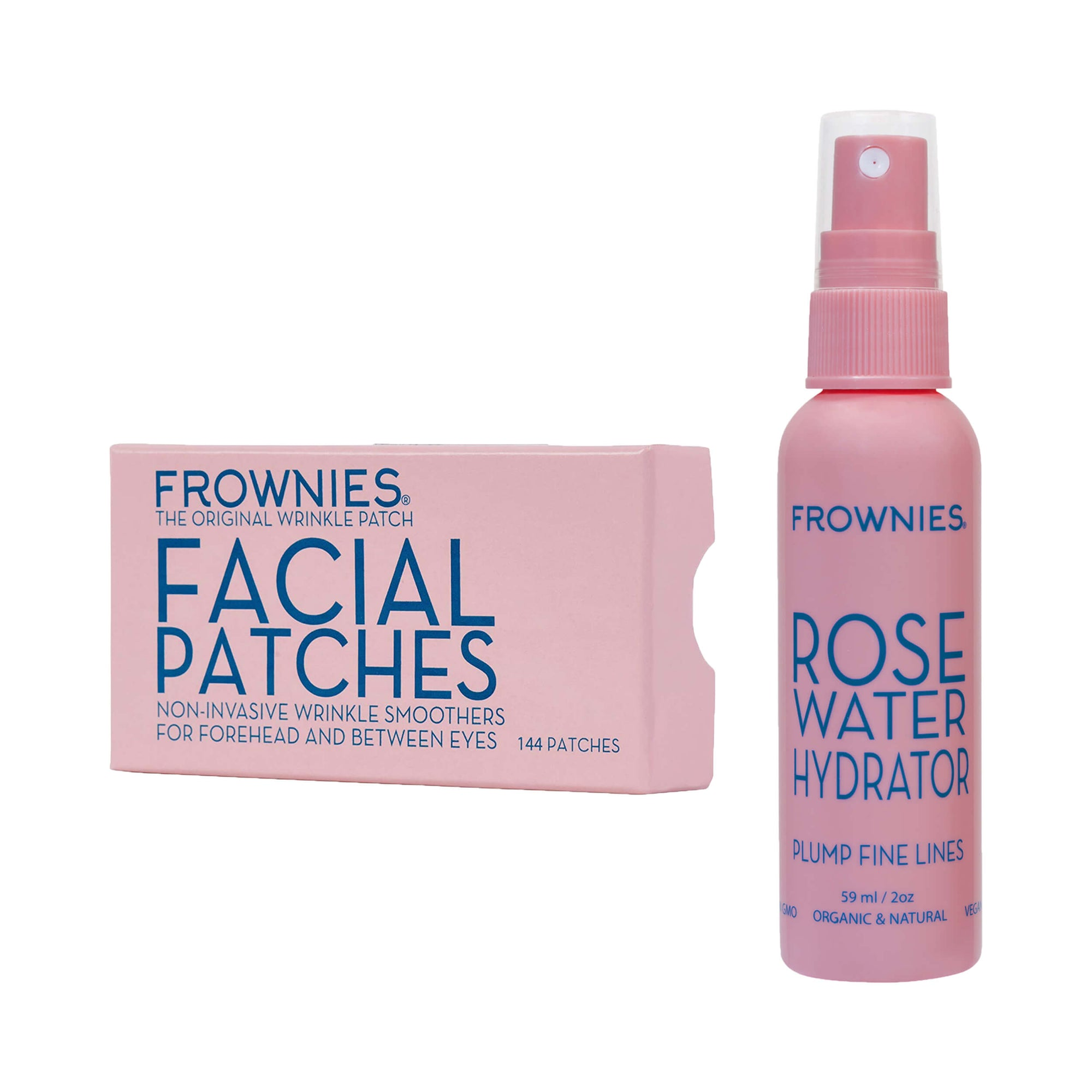 Frownies Forehead & Between Eyes (FBE) Rose Water Hydrator Activator Spray Combo