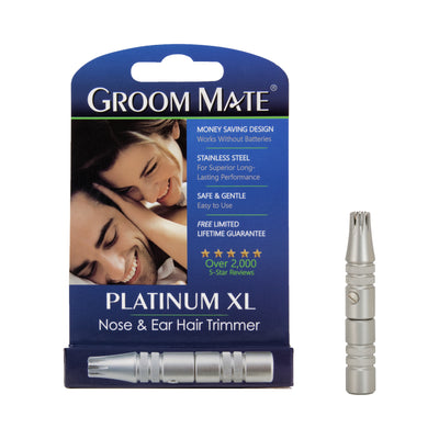 Groom Mate Platinum XL Nose Ear Hair Trimmer In Packaging