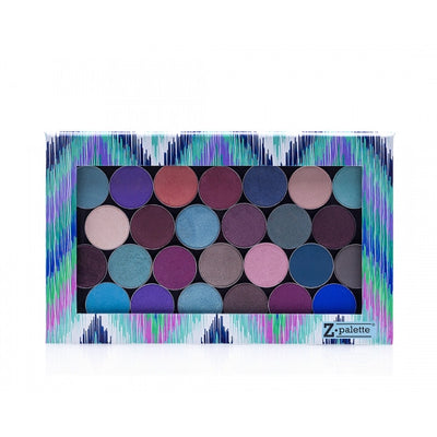 ZPalette Large Turquoise Chevron Eyeshadow Palette Box