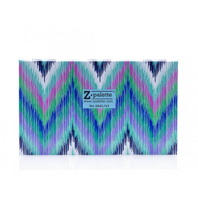 ZPalette Large Turquoise Chevron Eyeshadow Palette Close