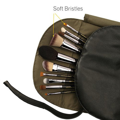 BDellium Tools Maestro The Key Essential 10pc Brush set with Roll up Pouch