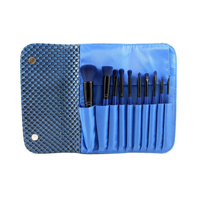Morphe Cosmetics SET 695 10 Piece 3D Pattern Navy Blue Brush Set