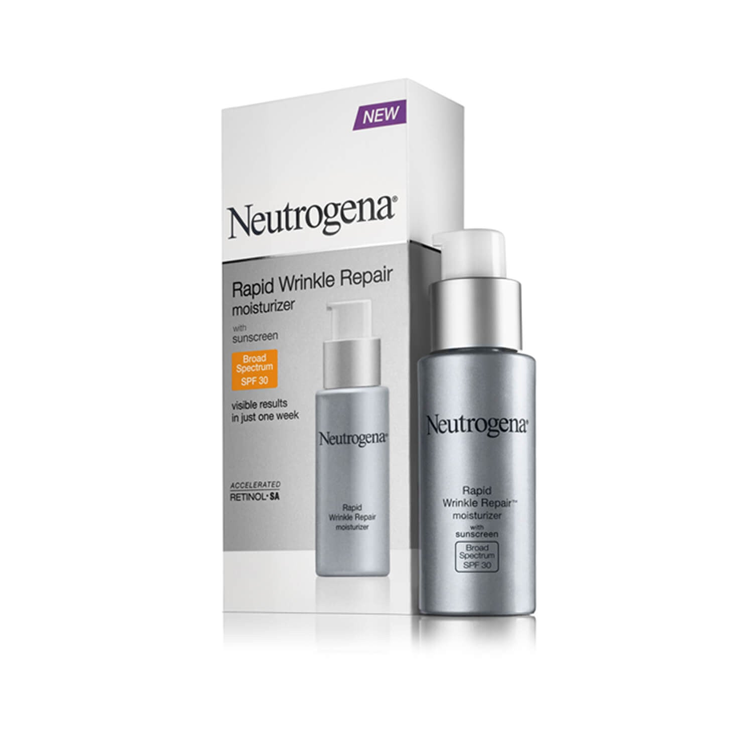 Neutrogena Rapid Wrinkle Repair Moisturizer Broad Spectrum SPF 30 Bottle