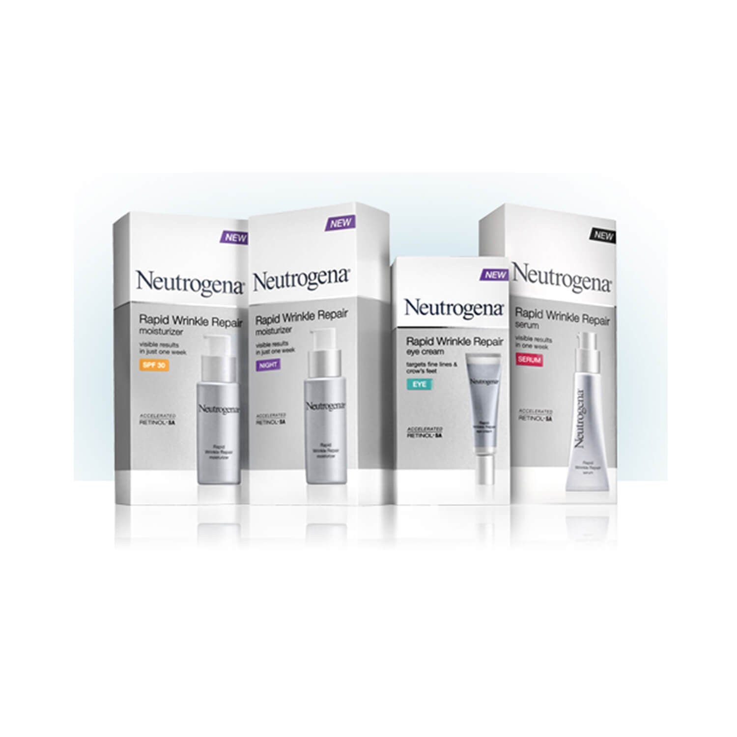 Neutrogena Rapid Wrinkle Repair Set of 4 Products