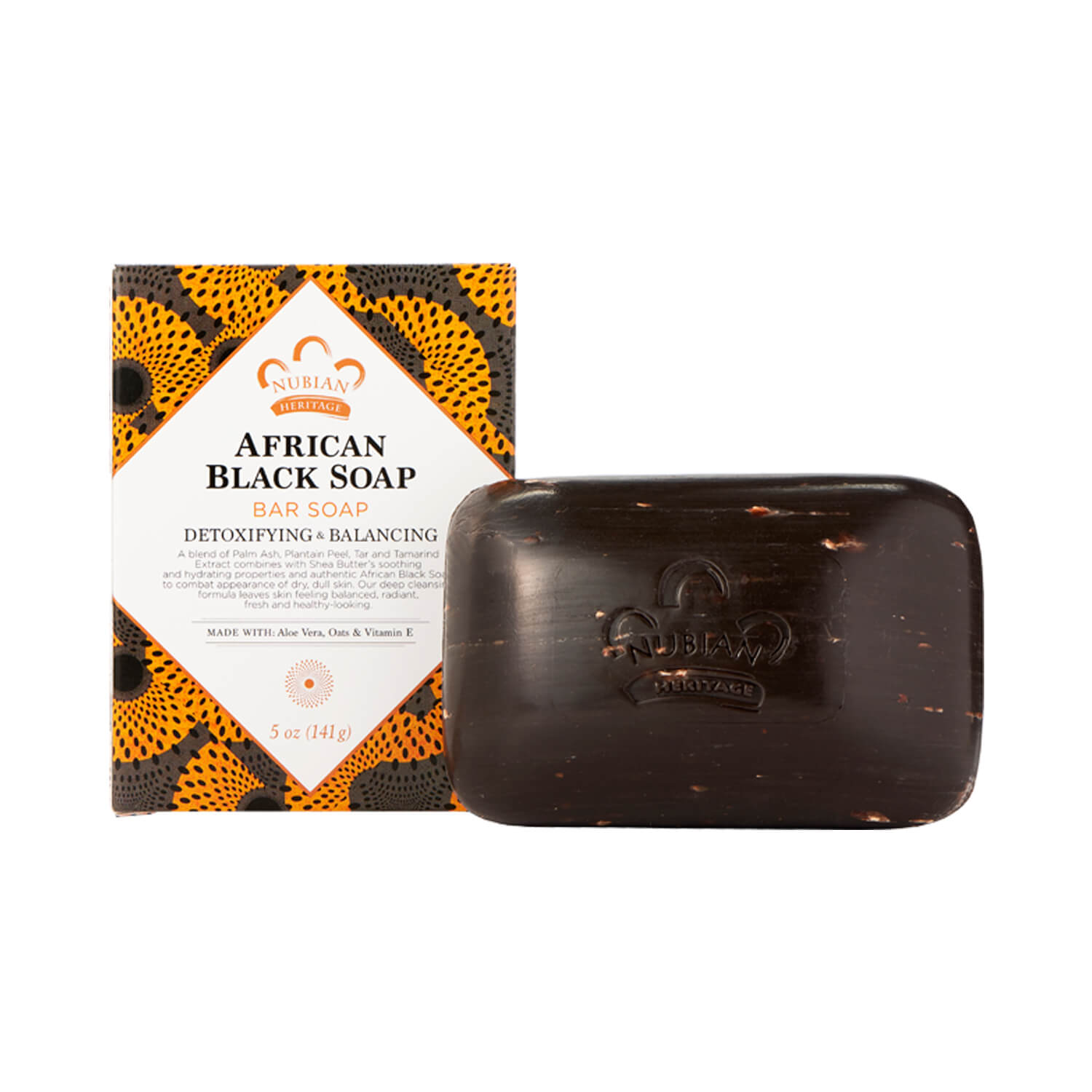 Nubian Heritage African Black Bar Soap 141g