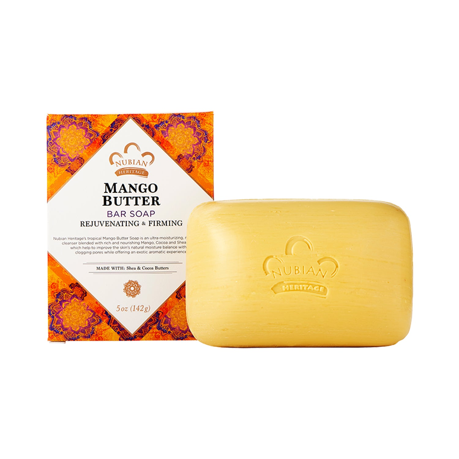 Nubian Heritage Mango Butter Bar Soap 141g