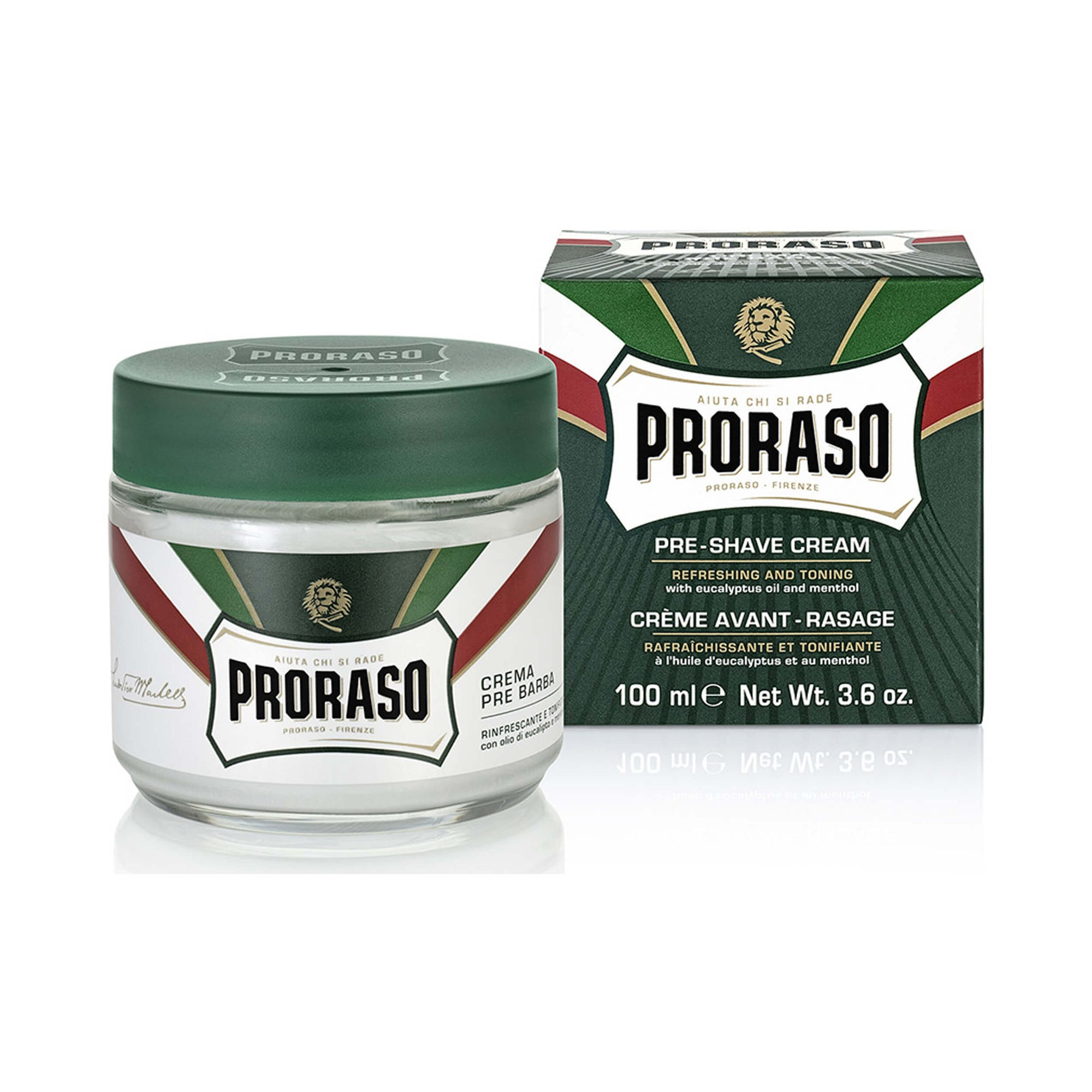 Proraso Pre-Shave Cream - Refreshing and Toning 100 mL