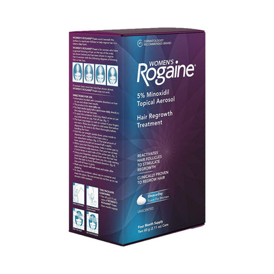 Rogaine Women's Rogaine 5% Minoxidil Unscented Foam for Hair Loss and Hair Regrowth 4-Month Supply