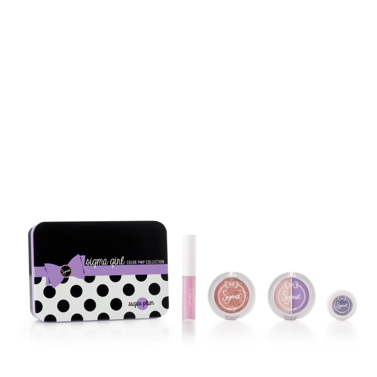 Sigma Girl Color Pop Makeup & Brush Set - Sugar Plum