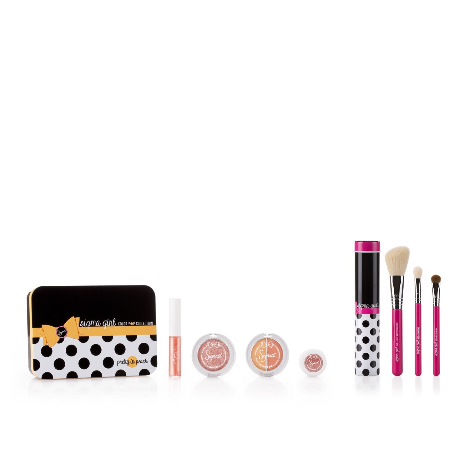 Sigma Girl Color Pop Makeup & Brush Set - Pretty in Peach