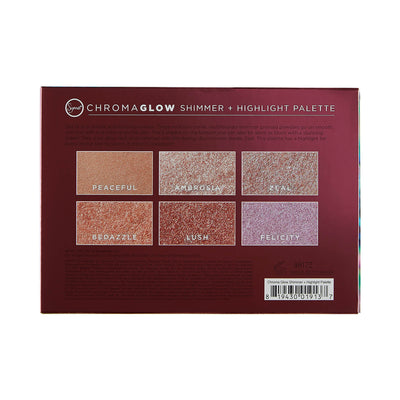 Sigma Beauty Chroma Glow Shimmer Highlight Palette Back