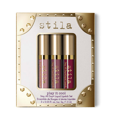 Stila Cosmetics Play It Cool Stay All Day Liquid Lipstick Set
