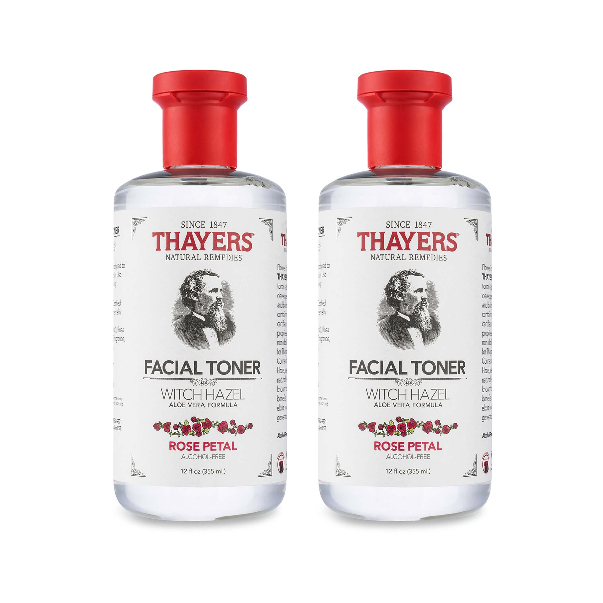 Thayers Alcohol-Free Rose Petal Witch Hazel Toner Pack of 2