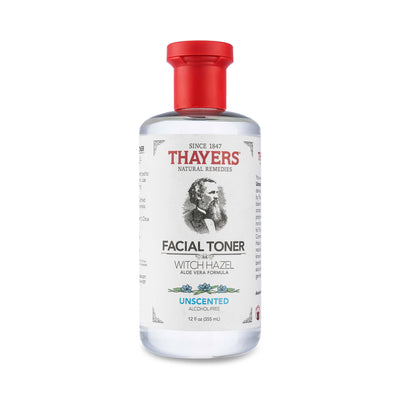 Thayers Alcohol-Free Unscented Witch Hazel Toner 12 oz 355 mL