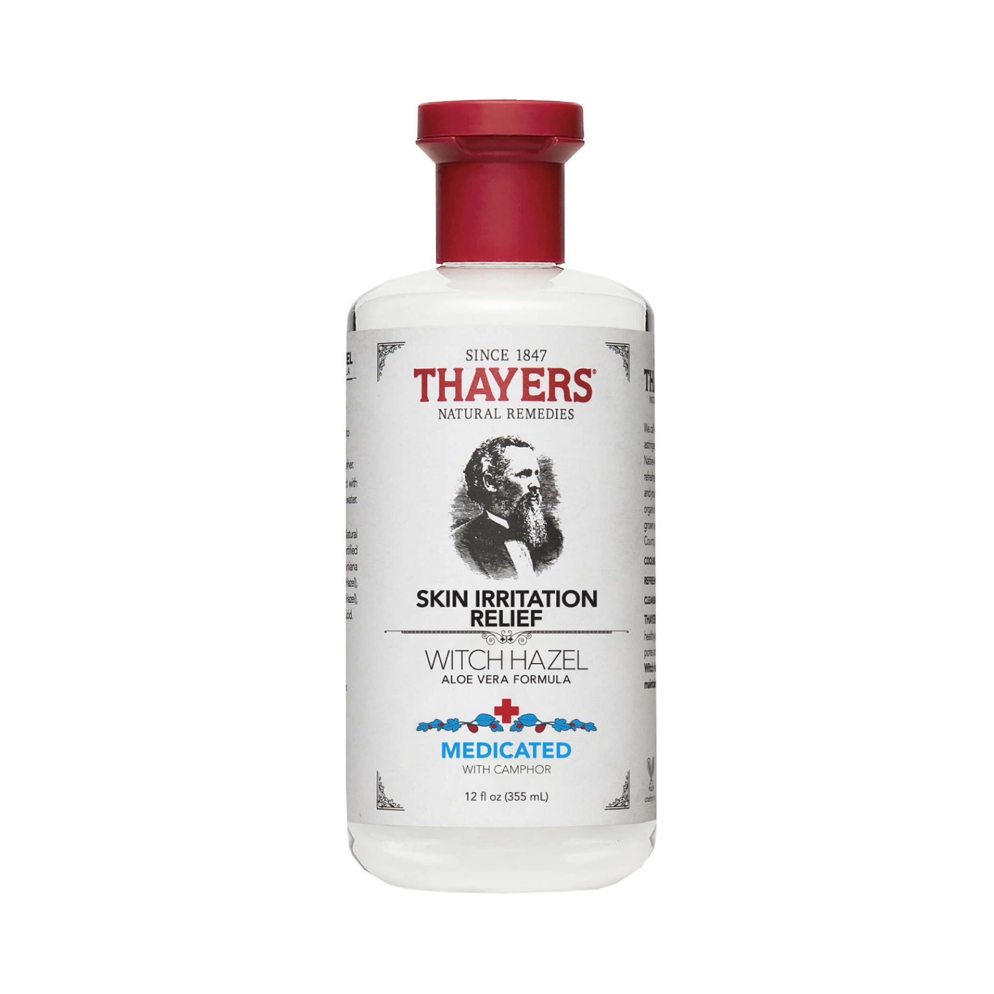 Thayers Alcohol Free Witch Hazel Medicated Skin Irritation Relief