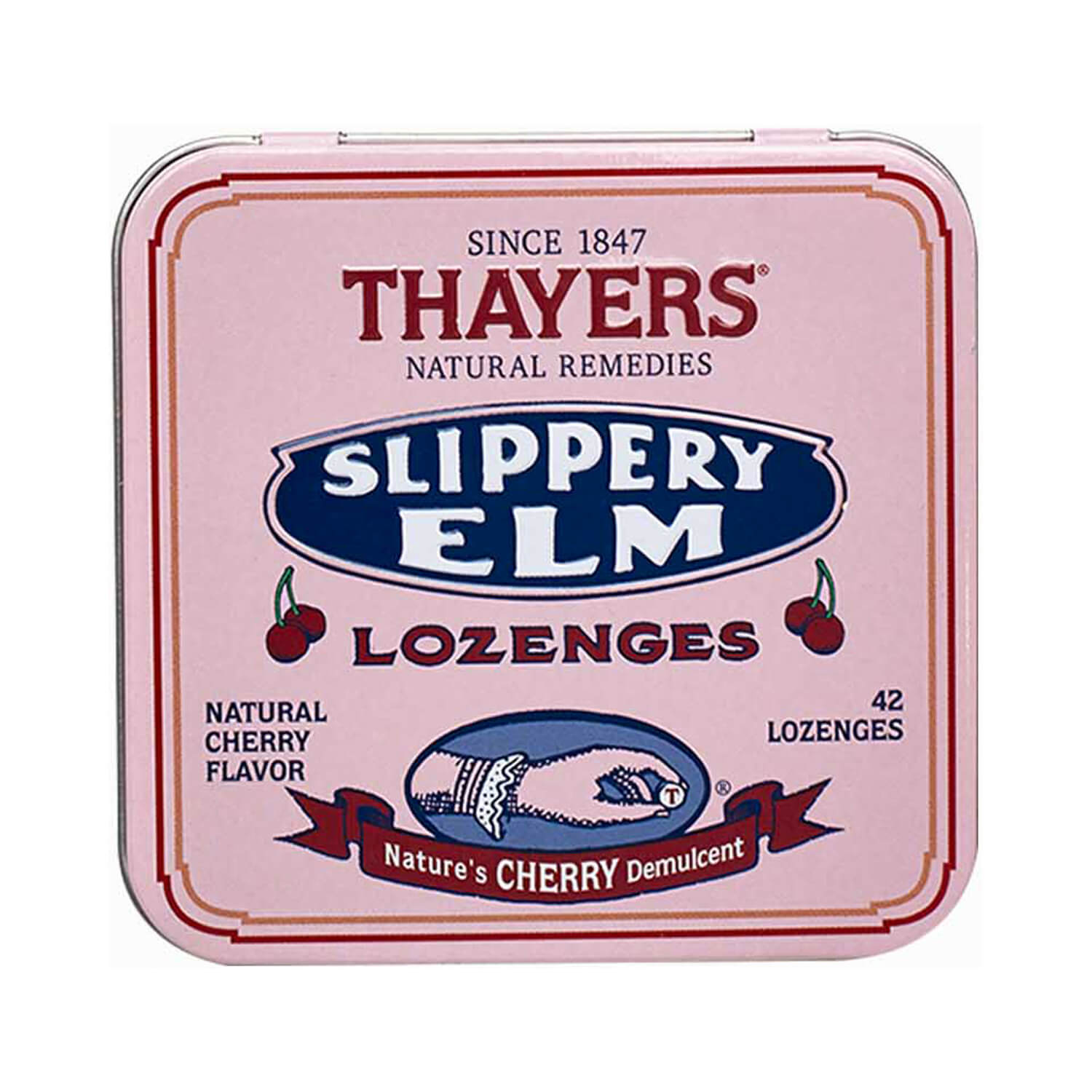 Thayers Cherry Slippery Elm Lozenges 42 Ct