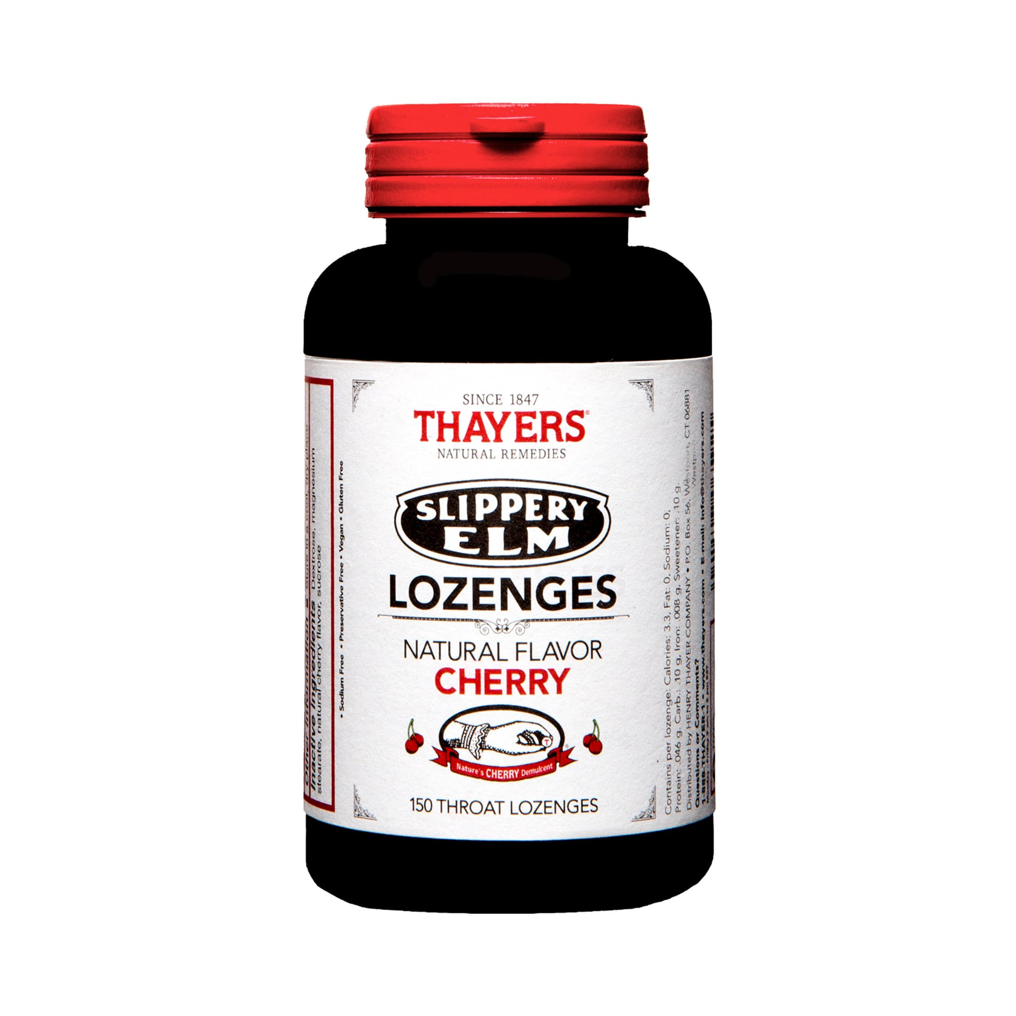 Thayers Slippery Elm Lozenges Cherry 150 Lozenges