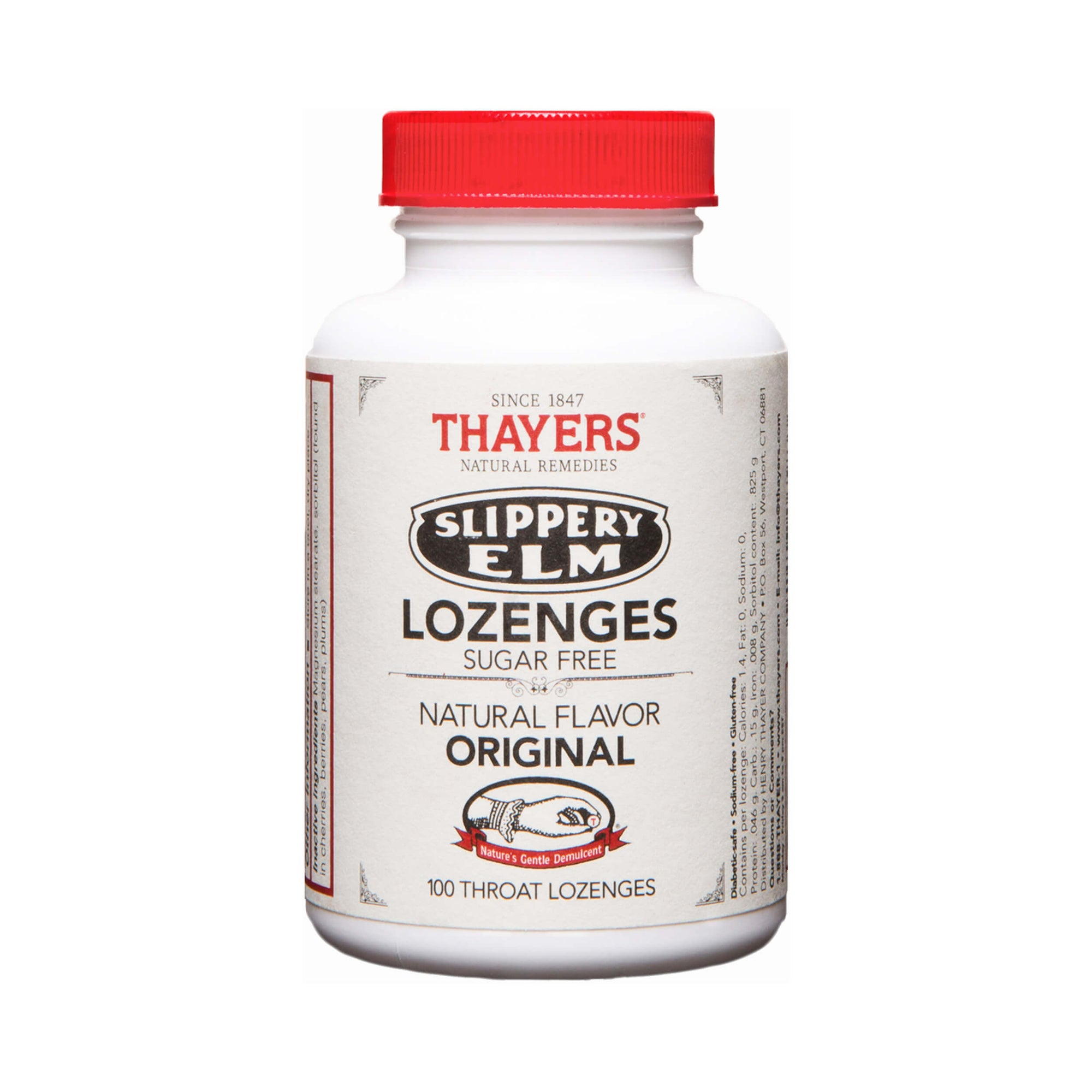 Thayers Sugar-Free Slippery Elm Lozenges Original 100 Lozenges