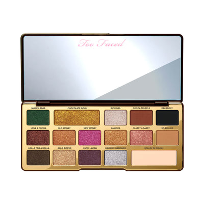 Too Faced Chocolate Gold Eyeshadow Palette Open