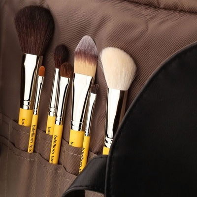 BDellium Tools Studio Basic 7pc. Brush Set with Roll-up Pouch