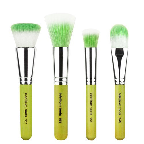 BDellium Tools Green Bambu Foundation 4pc. Brush Set