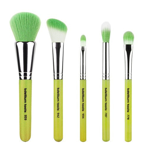 BDellium Tools Green Bambu Mineral 5pc. Brush Set