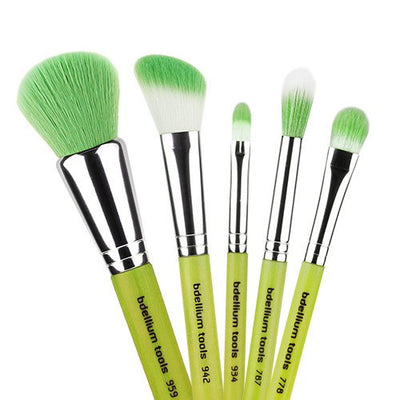 BDellium Tools Green Bambu Mineral 5pc. Brush Set Head