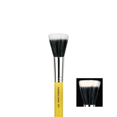 BDellium Tools Professional Antibacterial Makeup Brush Studio Line Duet Fiber Finishing 955 Yellow Head
