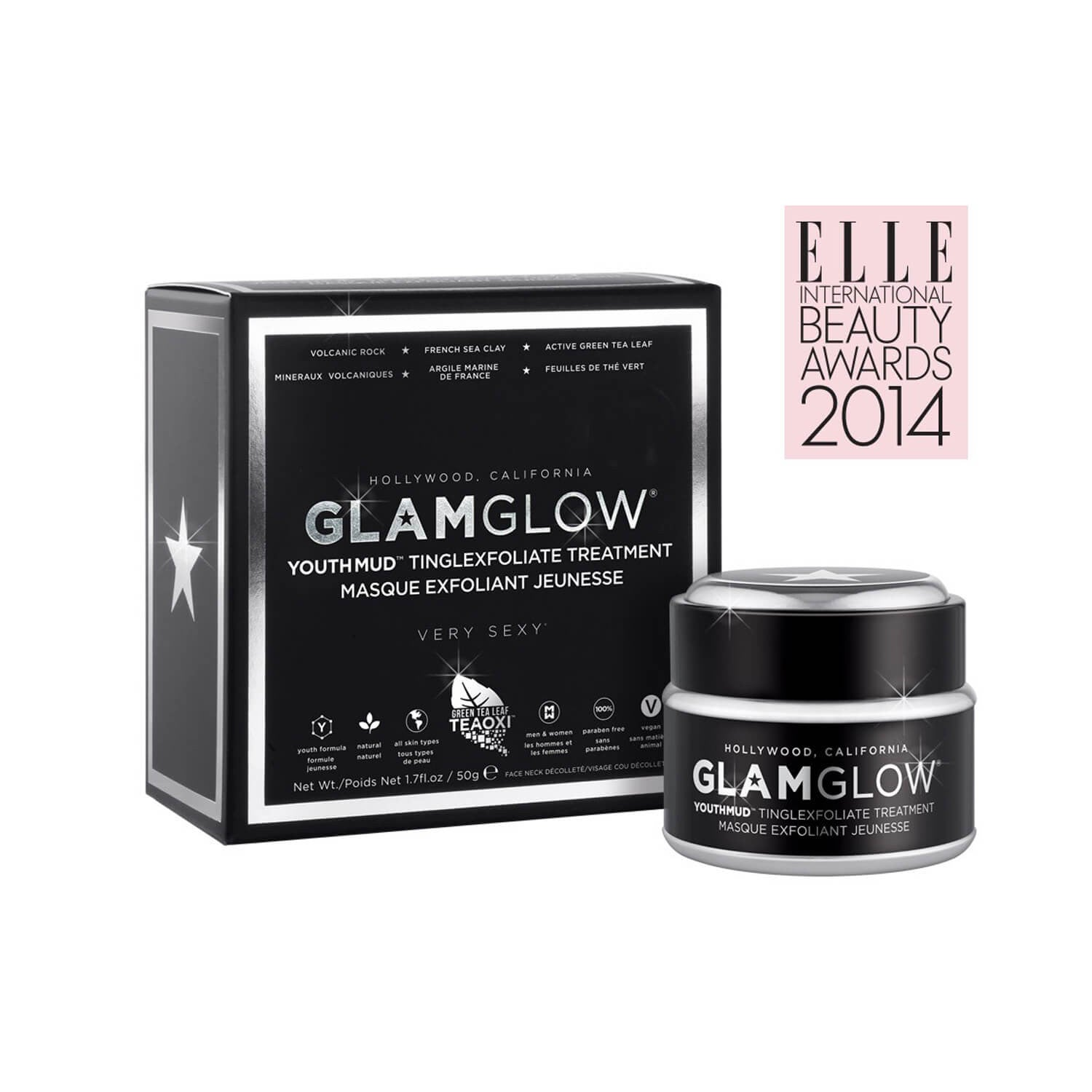 GLAMGLOW YOUTHMUD TINGLEXFOLIATE TREATMENT BOX