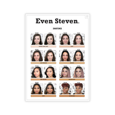 theBalm Even Steven Whipped Foundation Swatches
