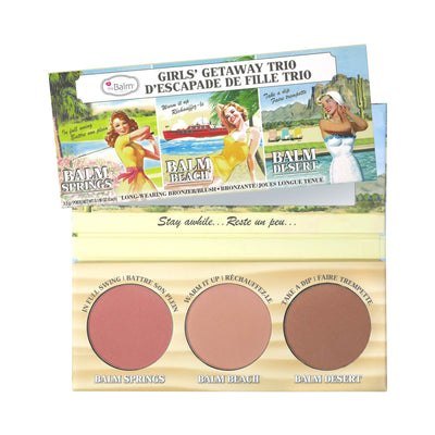 theBalm Girls Getaway Trio Long Wearing Bronzer/Blush