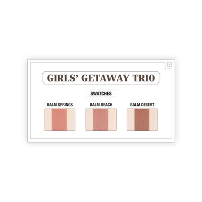 theBalm Girls Getaway Trio Long Wearing Bronzer/Blush Swatches