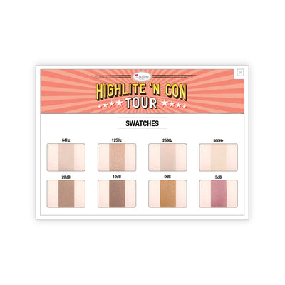theBalm Highlite N Con Tour Highlight Contour Palette Swatches