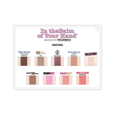 theBalm In theBalm of Your Hand Greatest Hits Volume 2 Palette Swatches