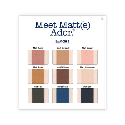 theBalm Meet Matt(e) Ador Matte Eyeshadow Palette Swatches