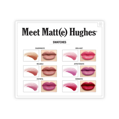 theBalm Meet Matte Hughes Set of 6 Mini Long-Lasting Liquid Lipsticks Exclusive New Shades Swatches