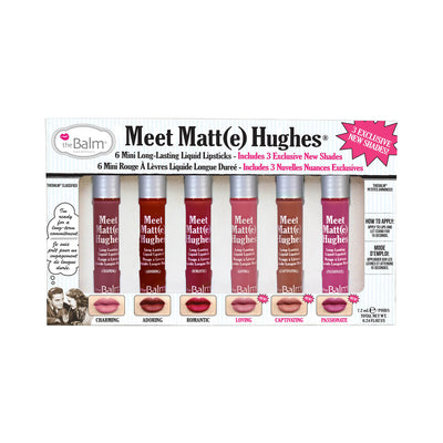 theBalm Meet Matte Hughes® Set of 6 Mini Long-Lasting Liquid Lipsticks Volume 3
