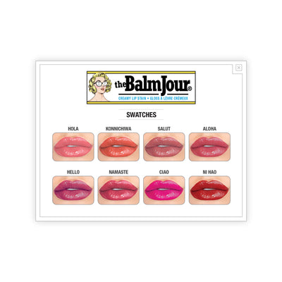 theBalm theBalmJour Creamy Lip Stain Swatches