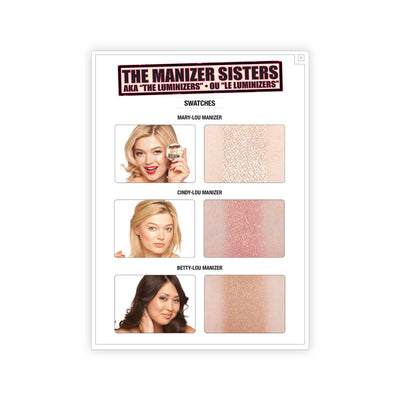 theBalm theManizer Sisters AKA the Luminizers Swatches