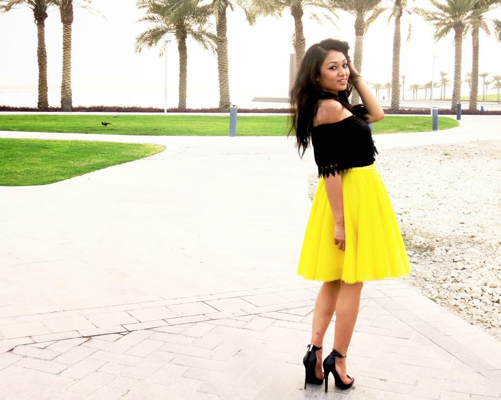Progressive Panache Anie Phukan in Lemon Fizz Skirt